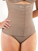 3075B - Espartilho (corset) com 12 barbatanas e renda superior e inferior