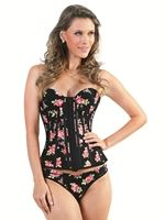 3075C - Espartilho (corset) com 12 barbatanas estampa animal ... 680db8ac4b1