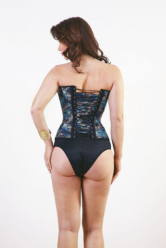 Corset estampa digital pássaro