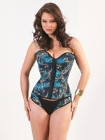 3098 - Corset estampa digital pássaro